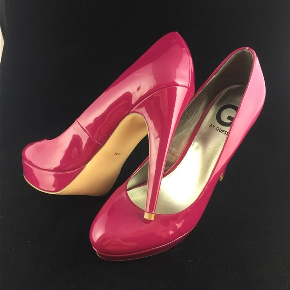 8a067cc5025 Guess raspberry patent leather pumps size 9.5
